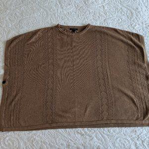 Banana Republic Factory Camel Sweater Poncho - M/L